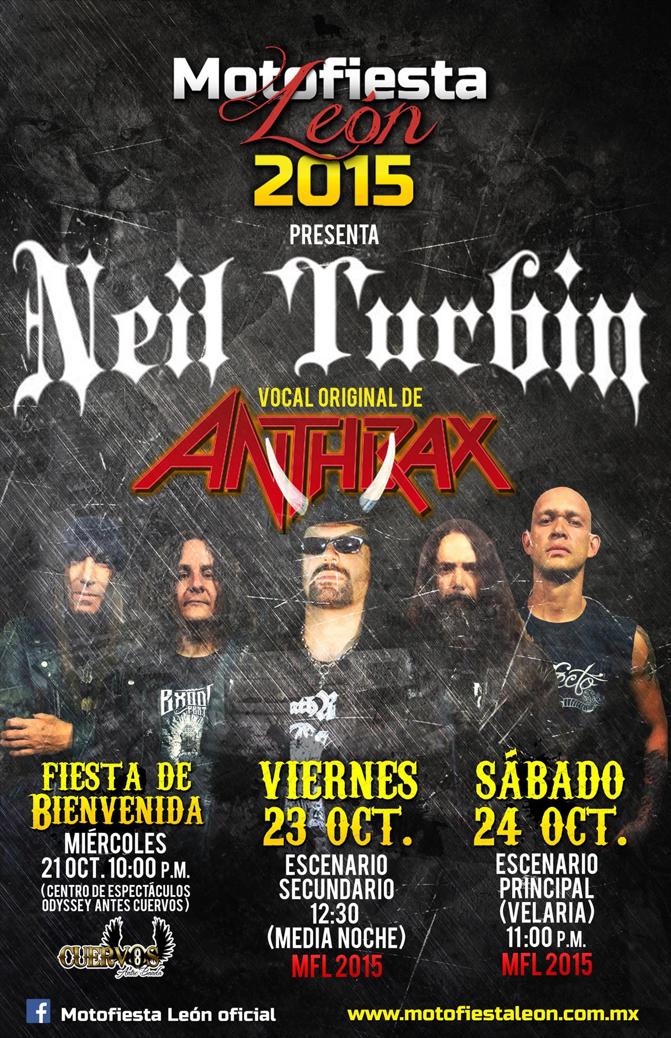Neil Turbin live Motofiesta Leon 9/24/2015