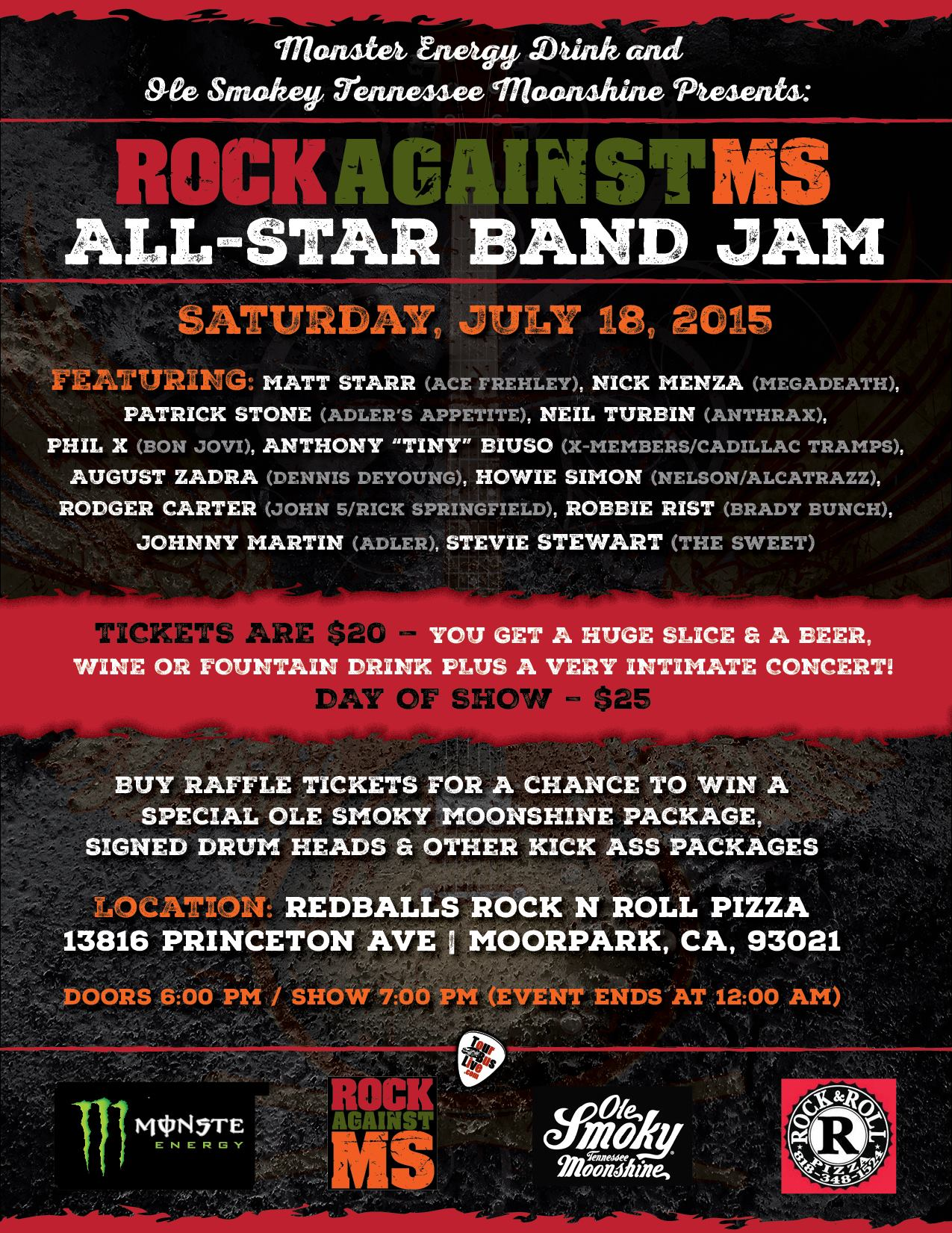 Rock Against MS Benefit All Star Band Jam