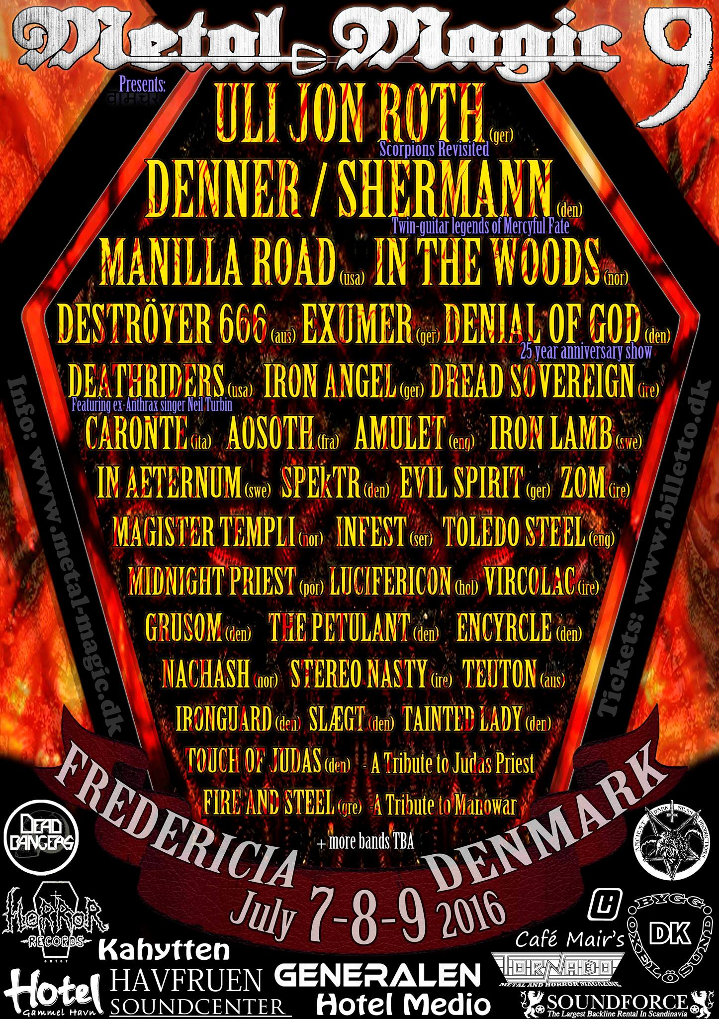 DeathRiders Metal Magic Festival Fredericia, Denmark 7/8/2016