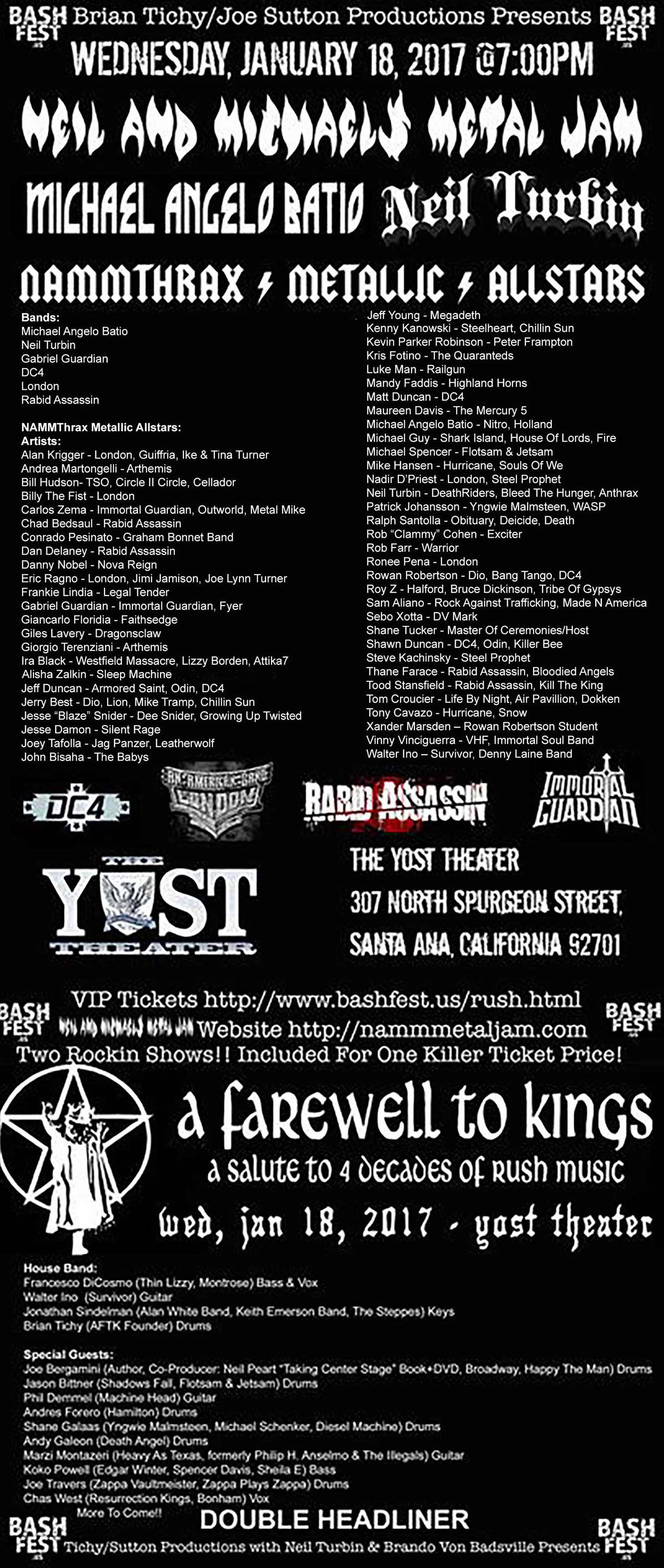 Neil And Michaels Metal Jam The Yost Theater 1/18/2017