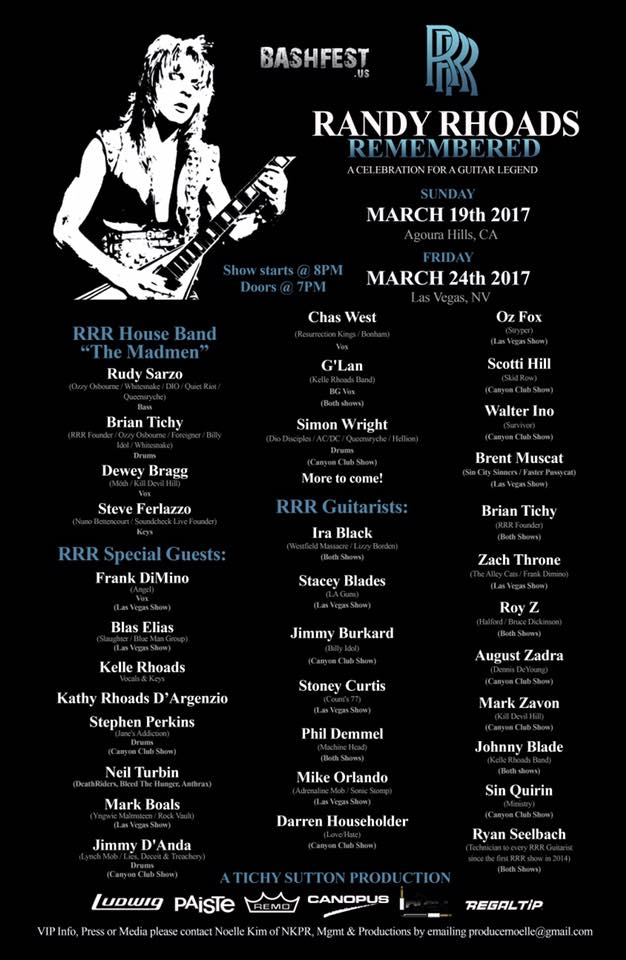 Randy Rhoads Remembered 3/19/2017 The Canyon Club