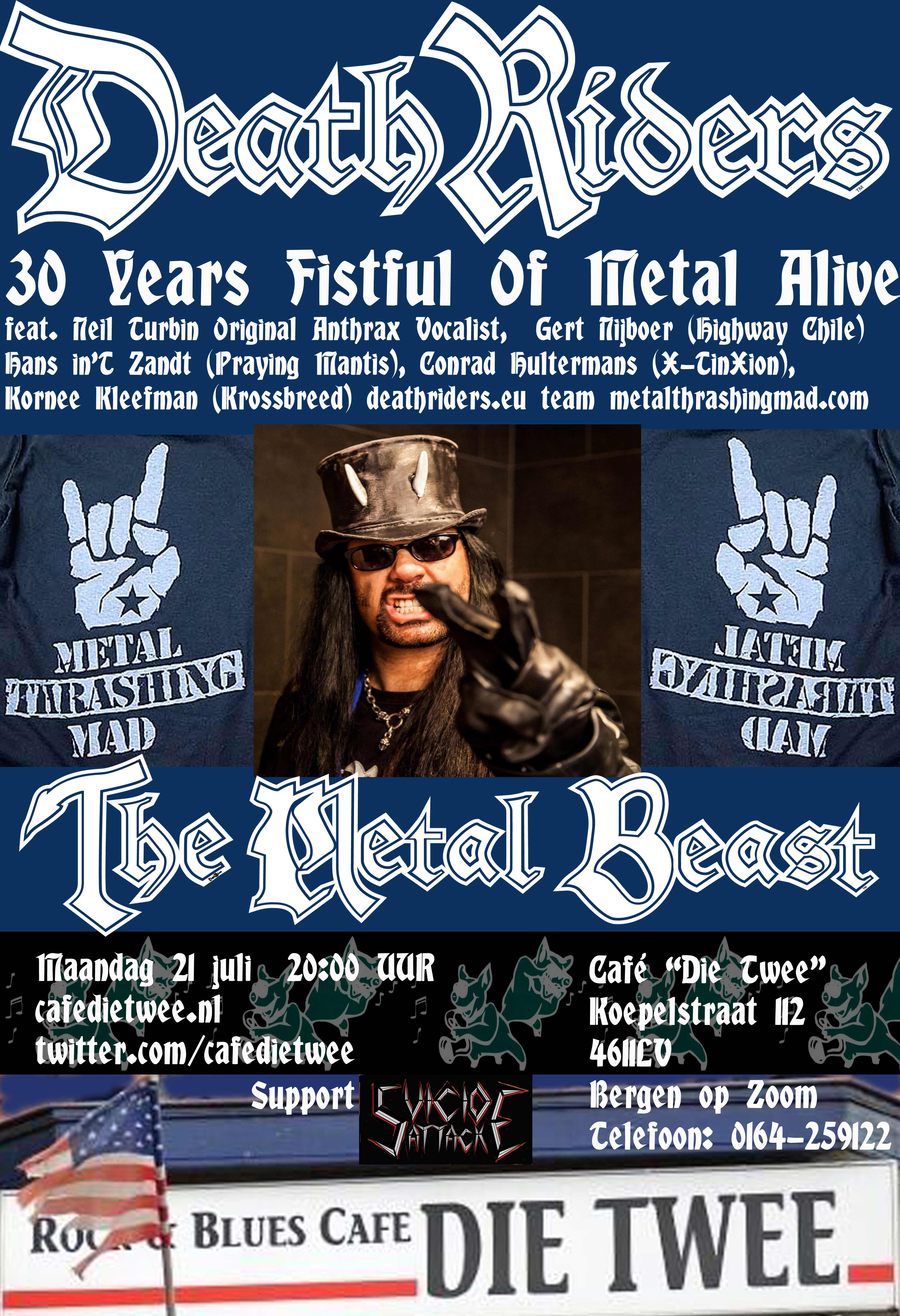 DeathRiders Cafe Die Twee Bergen op Zoom, NL - Fistful Of Metal Alive 30 Years Anniversary Europe