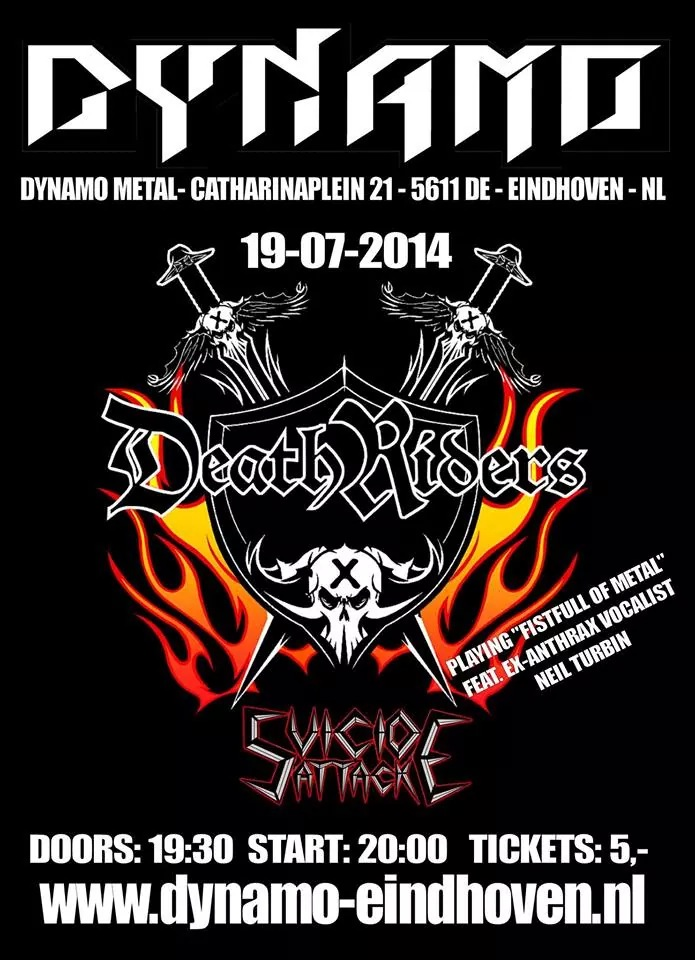 DeathRiders Dynamo - Eindhoven, NL Fistful Of Metal Alive 30 Years Anniversary Europe Tour 2014