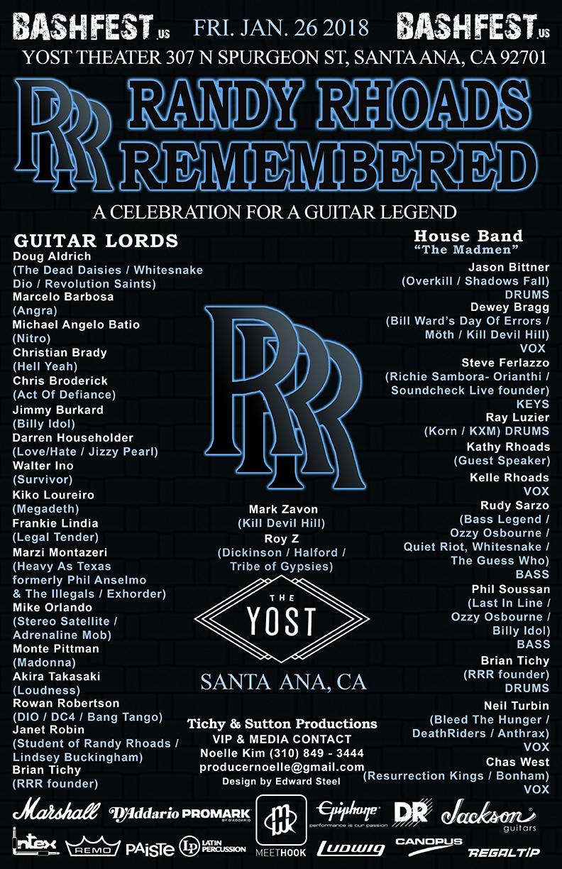 Randy Rhoads Remembered The Yost Theater 1/26/2018