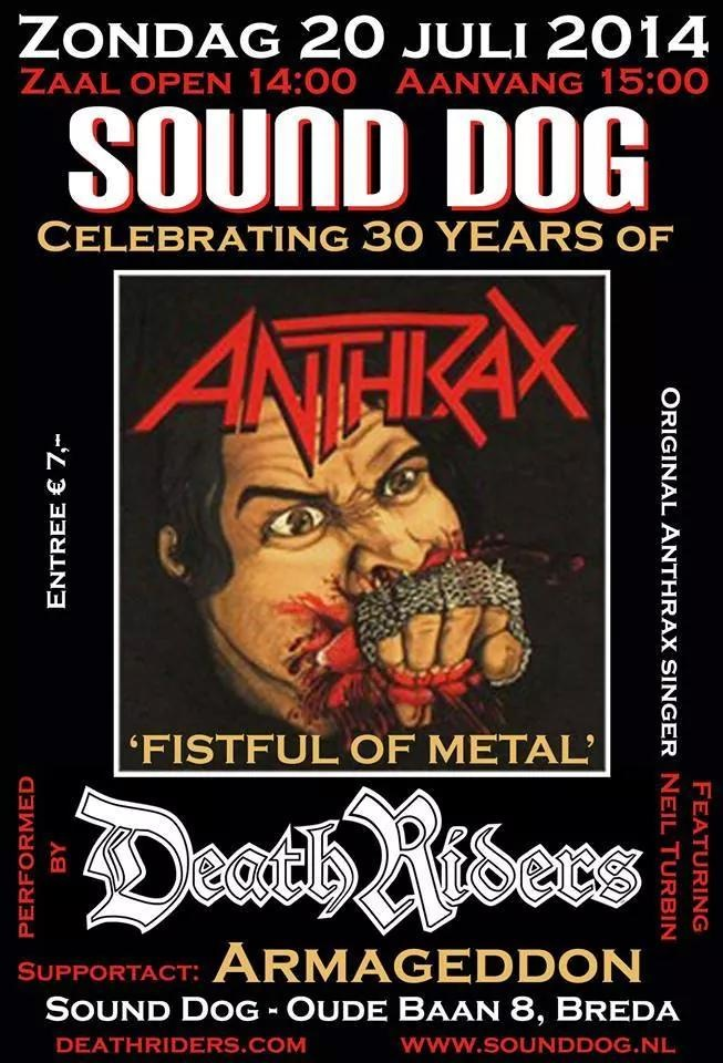 DeathRiders Sound Dog Breda, NL - Fistful Of Metal Alive 30 Years Anniversary Europe Tour 2014